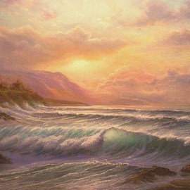 Joseph Porus Artwork Closing Thoughts, 2007 Oil Painting, Seascape
