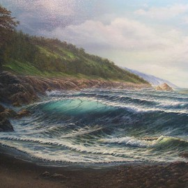Joseph Porus Artwork Cold Front, 2006 Oil Painting, Seascape