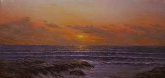 Joseph Porus: 'Deepening Sky', 1989 Oil Painting, Seascape.    Oil on  stretched fine canvas.         ...