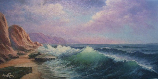 Joseph Porus  'Emerald Seas', created in 2006, Original Painting Oil.
