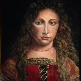 Joseph Porus: 'Julia Medici Lystri', 2016 Oil Painting, Portrait. Artist Description: Oil on linenInspired from the orinial who was a student of Leonardo Da Vinci...