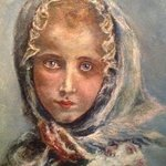Little Girl Bundled By Joseph Porus