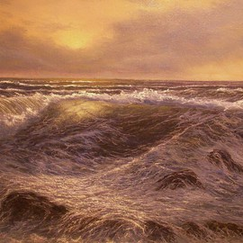 Joseph Porus Artwork Noreaster Coming, 1996 Oil Painting, Seascape