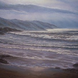 Joseph Porus Artwork October Surf, 2007 Oil Painting, Seascape