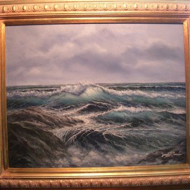 Joseph Porus Artwork Storm Brewing, 1998 Oil Painting, Seascape