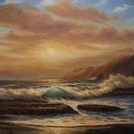 Sunset on the Left Coast By Joseph Porus