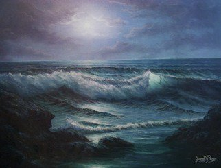Joseph Porus: 'The Sound of Sirens', 2002 Oil Painting, Scenic.  Oil on stretched fine canvas    ...