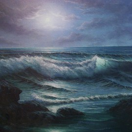 Joseph Porus Artwork The Sound of Sirens, 2002 Oil Painting, Scenic