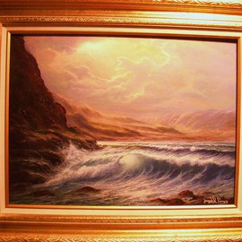 Joseph Porus Artwork Time To Reflect, 2006 Oil Painting, Seascape