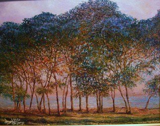 Trees Oil Painting by Joseph Porus Title: Trees A Monet Study, created in 2009