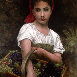 Joseph Porus Artwork Vineyard Delights, 2016 Oil Painting, Portrait