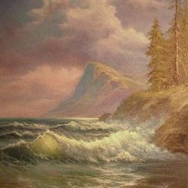 Joseph Porus Artwork Washington Coast, 1994 Oil Painting, Seascape