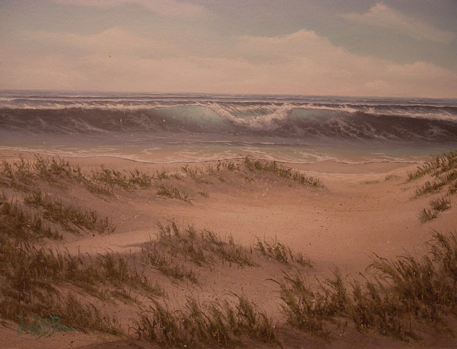 Joseph Porus  'Waves Of Sand', created in 1992, Original Painting Oil.