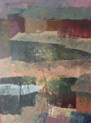 Jamie Skeele Artwork Slums of Peru, 2015 Oil Painting, Abstract Landscape