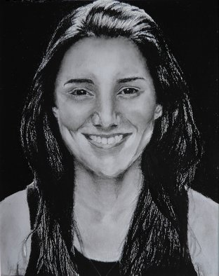 Portrait Charcoal Drawing by Jeremy Steeves Title: Beautiful Woman, created in 2013