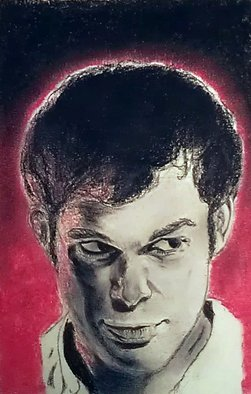 Portrait Charcoal Drawing by Jeremy Steeves Title: Dexter Morgan, created in 2013
