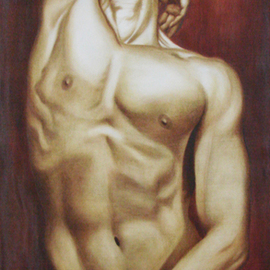 Juan Kovacs: 'Rising', 2009 Oil Painting, nudes. Artist Description:  Male nude ...