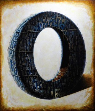 Tony Rodriguez  Juan Antonio Rodriguez Olivares: 'who we are', 2016 Oil Painting, Surrealism. Artist Description: cities...