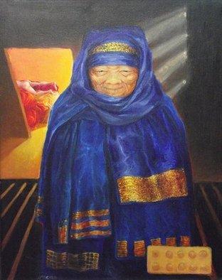 Artist: Judith Mitchell - Title: Sacred Woman, Profane Woman - Medium: Oil Painting - Year: 2011