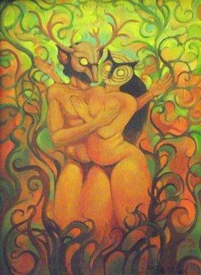 Artist: Judith Mitchell - Title: The Beltane Dancers - Medium: Oil Painting - Year: 2011