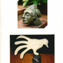 Julia Cake: 'Granite Face and Ma Colombinette', 1995 Stone Sculpture, Abstract Figurative. Artist Description: Ma Colombinette Translated My Little Dove Can be reproduce in bronze. Represent a hand...