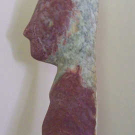 Julia Cake Artwork Le Visage, 2008 Stone Sculpture, People