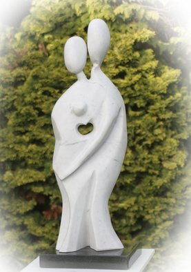 Julia Cake Artwork Les Amoureux, 2008 Stone Sculpture, Abstract Figurative