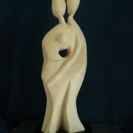 Julia Cake: 'Les Amoureux', 2008 Stone Sculpture, Abstract Figurative.