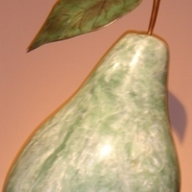 Julia Cake Artwork The Pear can be viewed at Phillips Galleries Worth Avenue Palm Beach FL, 2005 Stone Sculpture, Romance