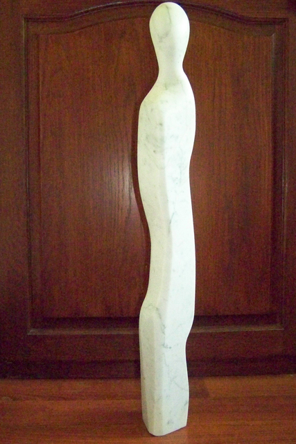 Julia Cake  'Two Ladies And A Man', created in 2008, Original Sculpture Marble.