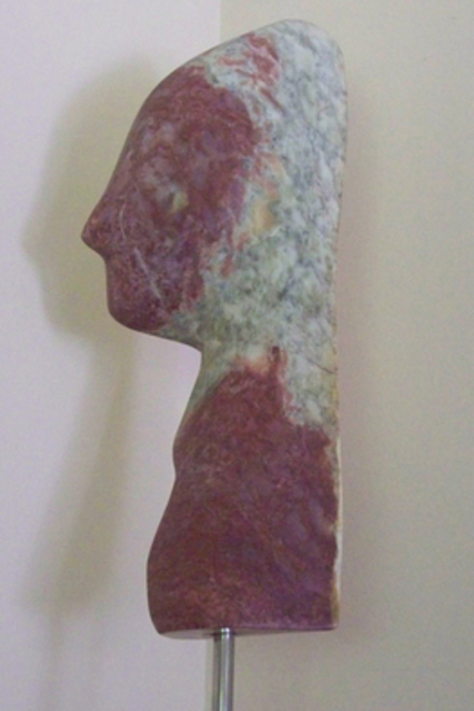 Julia Cake: auto portrait, 2015 Stone Sculpture