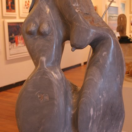 , Deux Femmes, Abstract Figurative, $38,000