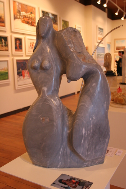 Julia P. Cake  'Deux Femmes', created in 2010, Original Sculpture Marble.