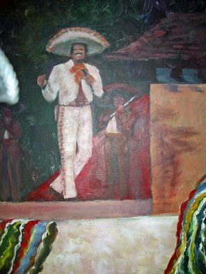 Julie Van Wyk: 'mexican singer', 2010 Acrylic Painting, Music.             mexican singer                  ...
