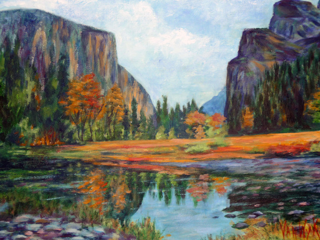 Julie Van Wyk  'Summer In Yosemite', created in 2010, Original Painting Oil.
