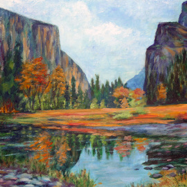 Julie Van Wyk Artwork summer in yosemite, 2010 Acrylic Painting, Landscape