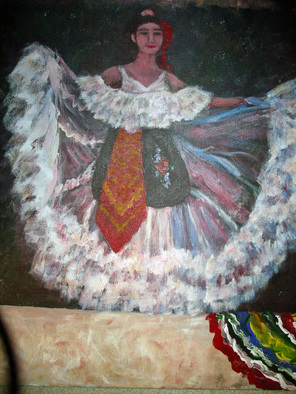 Julie Van Wyk Artwork the dancer, 2010 Acrylic Painting, Dance