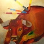 bull bullfigting By Maryia Vosipava