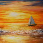 sunset at sea By Goutami Mishra