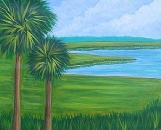 Landscape Acrylic Painting by Justin Holdren Title: Florida Marsh, created in 2008