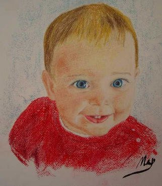 Max Young: 'Jared', 2003 Pastel, Children. Jared...