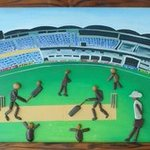 a cricket stadium By Jyothi Chinnapa Reddy