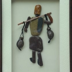 , A Village Man With Pots, Abstract, $105