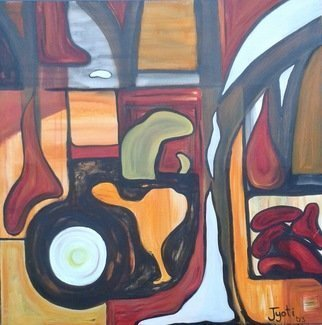 Jyoti Thomas: 'inner workings', 2003 Acrylic Painting, Abstract.