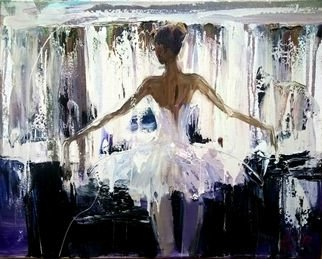 Anastasiya Kachina: 'ballerina', 2017 Oil Painting, Figurative. Artist Description: ballet, ballerina...
