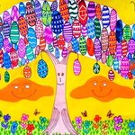 tree of the easter eggs By Neal Alicakos