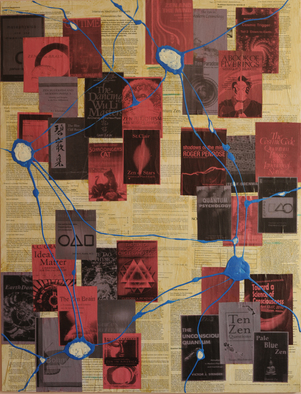 Collage by Keith Gray titled: boson dharma, created in 2011