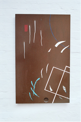 Undefined Medium by Keith Gray titled: brown shards, 1983
