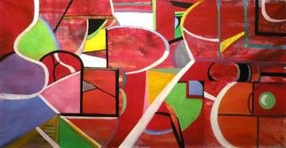 Kalli Matzora: 'enigma', 2012 Oil Painting, Abstract. Artist Description: shapes, forms, red...