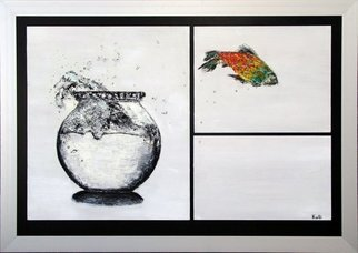 Kalli Matzora: 'fresh', 2008 Oil Painting, Fish. Artist Description: fish, white, freedom...